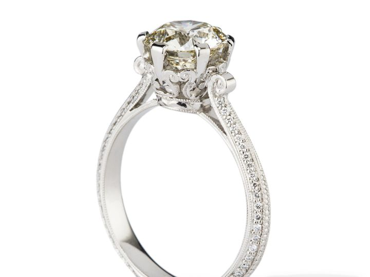 Tmx 1487720558647 Fit For A Queen Antqiue Style Engagement Ring Beaverton wedding jewelry