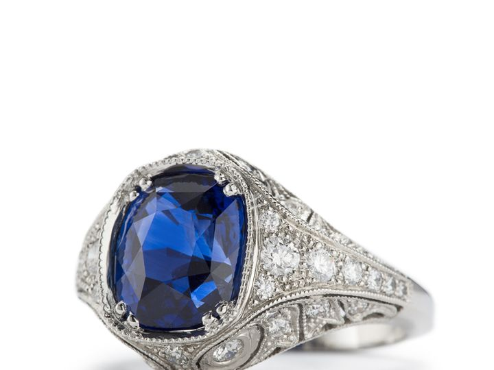 Tmx 1487721551248 Empress Sapphire And Platinum Filigree Ring Beaverton wedding jewelry