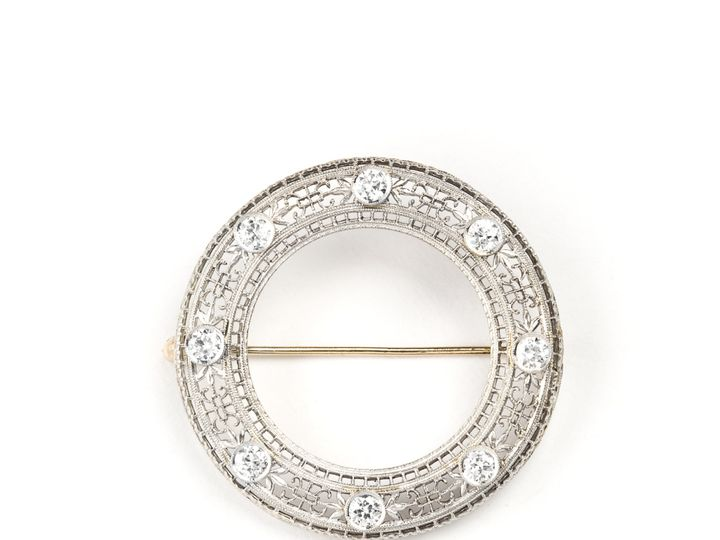 Tmx 1487721567817 Circle Pin With Diamods Beaverton wedding jewelry