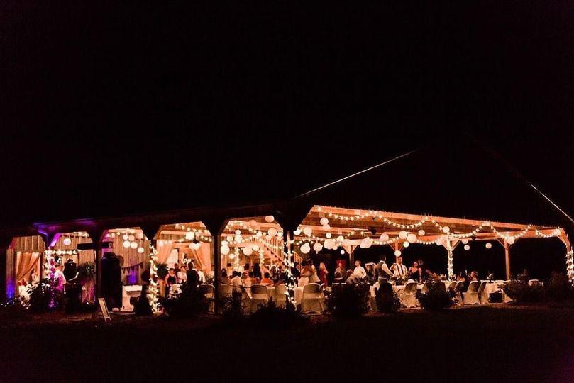 Moonlit Farms at night