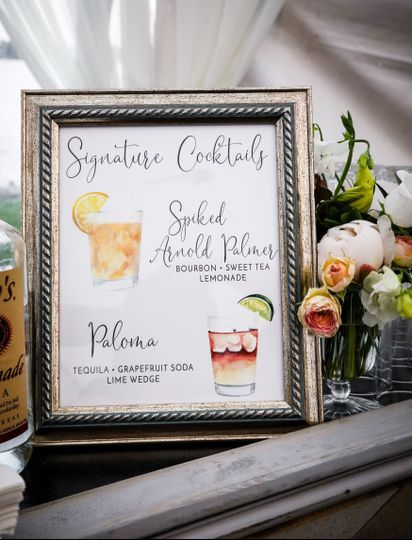 Wedding sign frame
