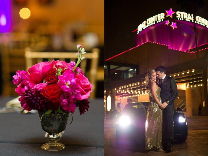 Tampa wedding reception at the Straz Center