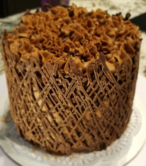 Chocolate hazelnut with cage