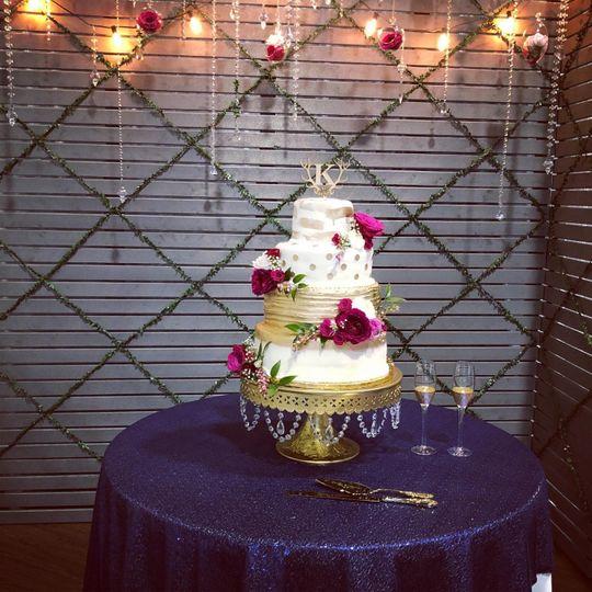 Ornate cake table