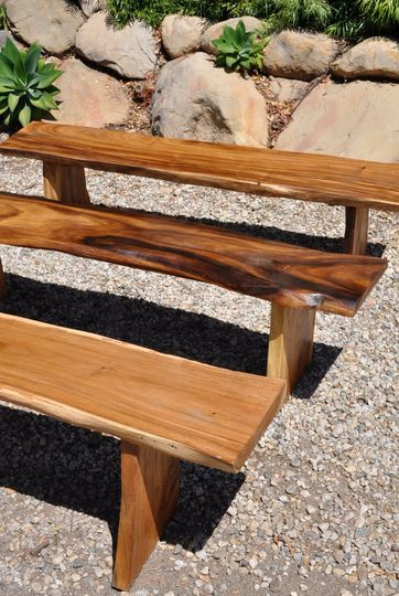 Acacia Benches / Ceremony Seating 24 Available seating up to 100 persons