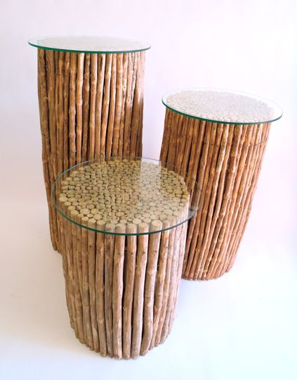 Coffee Wood Displays ~ Gifts, Desserts, Favors, Columns