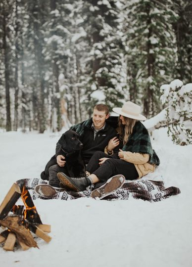 Snow newly wed get away