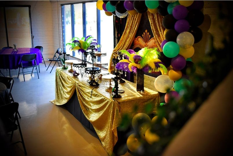 Masquerade sweet table