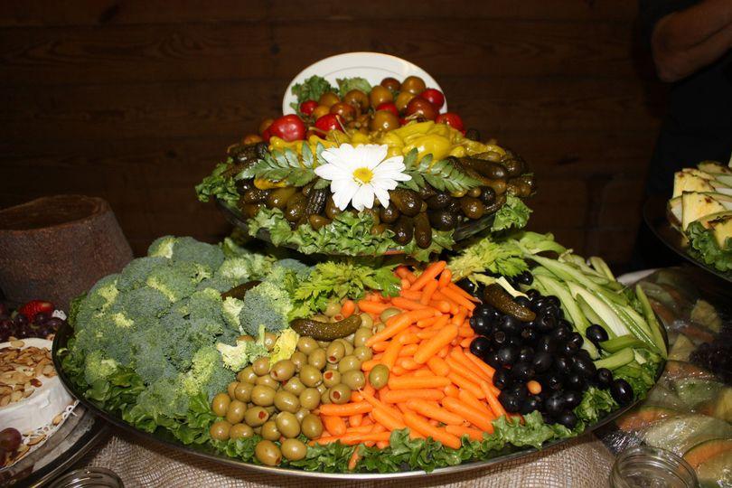 The veggie platter