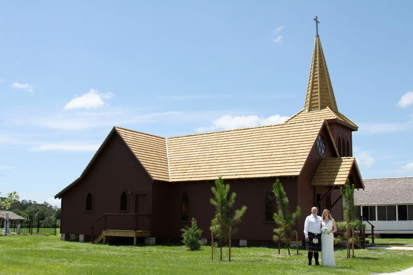 1800s Historic Replica Church at Pioneer Village at Shingle Creek