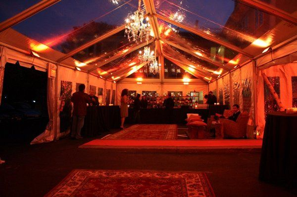 Evening event under a 40'x80' Century pole tent.