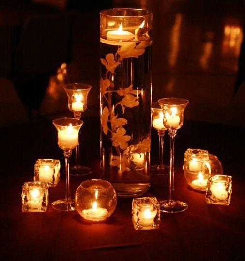 CandleandOrchidCenterpiece