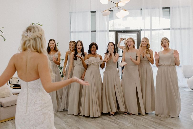 Bridal Party Reveal In Studio