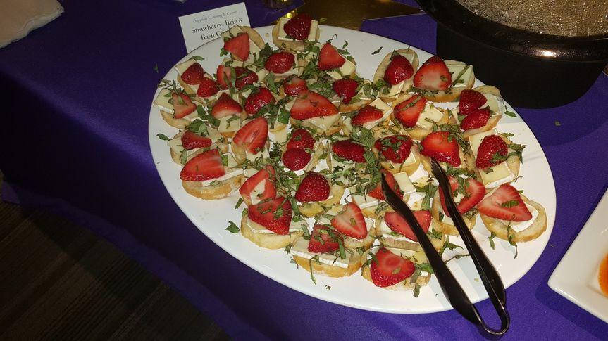 Strawberries, Brie & Basil