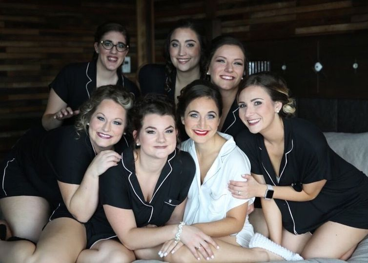 A stunning bridal party