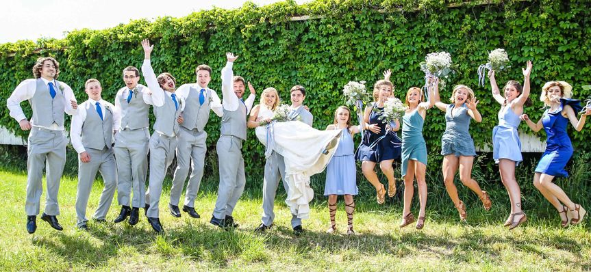 Jump shot with the couple