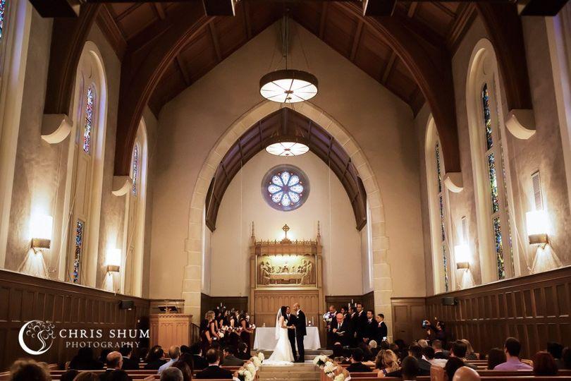 Ceremony in Stewart Chapel