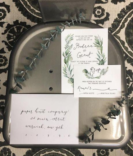 Fancy white envelopes