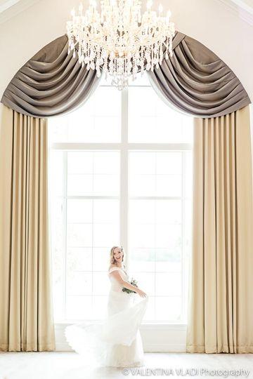 Ballroom bridal portrait