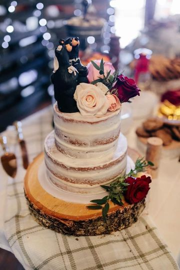 Classic tiered cake