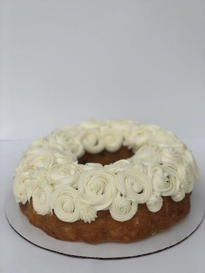 Frosted bundt cake