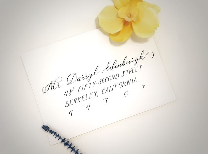 Handwritten addresses