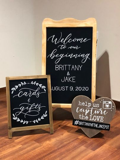 Standing chalkboard signs