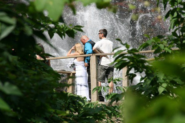 Wedding by a waterfall