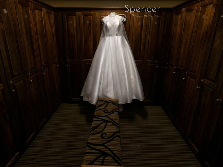 Tmx 1 Wedding Dress Hanging In Firestone Country Club Lockerroom 51 64613 Akron, OH wedding venue