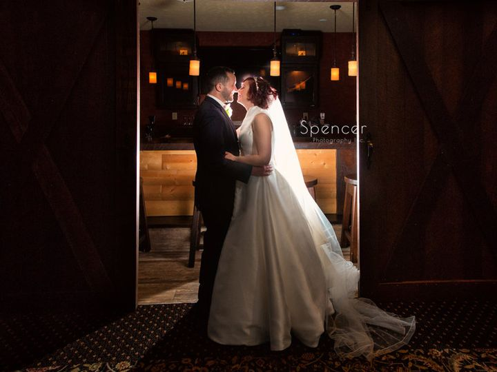 Tmx 16 Wedding Day Picture Of Bride And Groom In Lodge At Firestone 51 64613 Akron, OH wedding venue