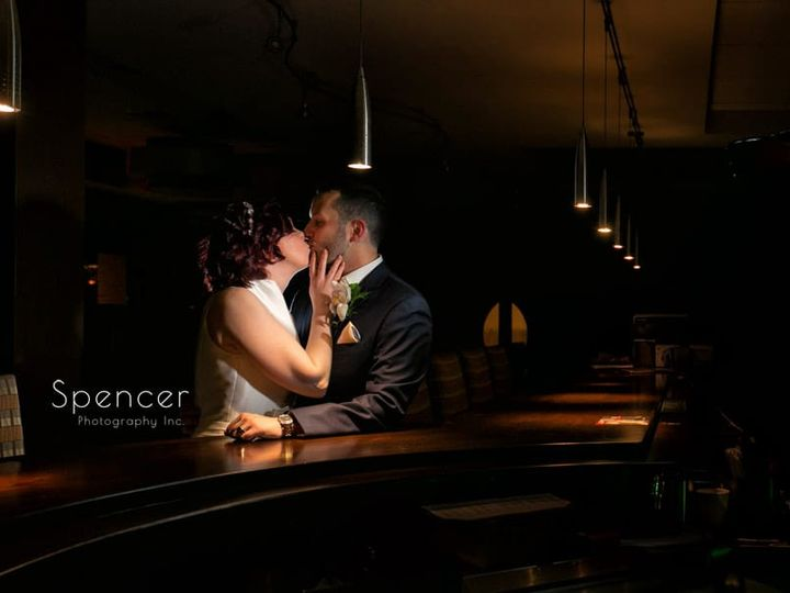 Tmx 42 Bride And Groom Kissing In Bar At Firestone Country Club 51 64613 Akron, OH wedding venue