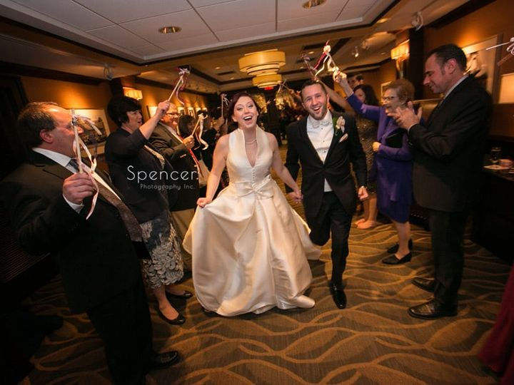Tmx 46 Bride And Groom Exit Wedding Reception At Firestone 51 64613 Akron, OH wedding venue