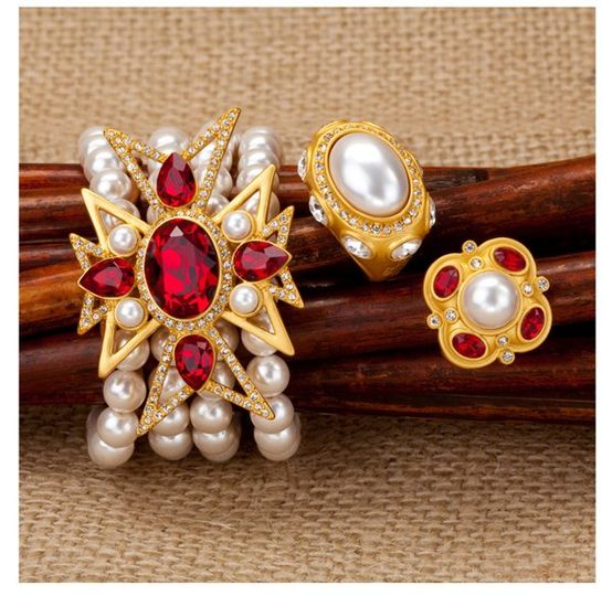 Colorful jewelry for brides and attendants.