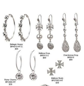 Beautiful bridal jewelry for the bride and her attendants.
