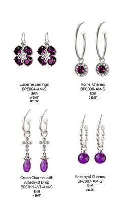 Bridal and attendant earrings