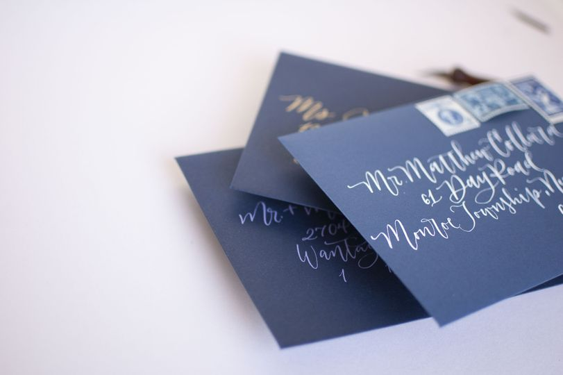 Modern calligraphy envelopes