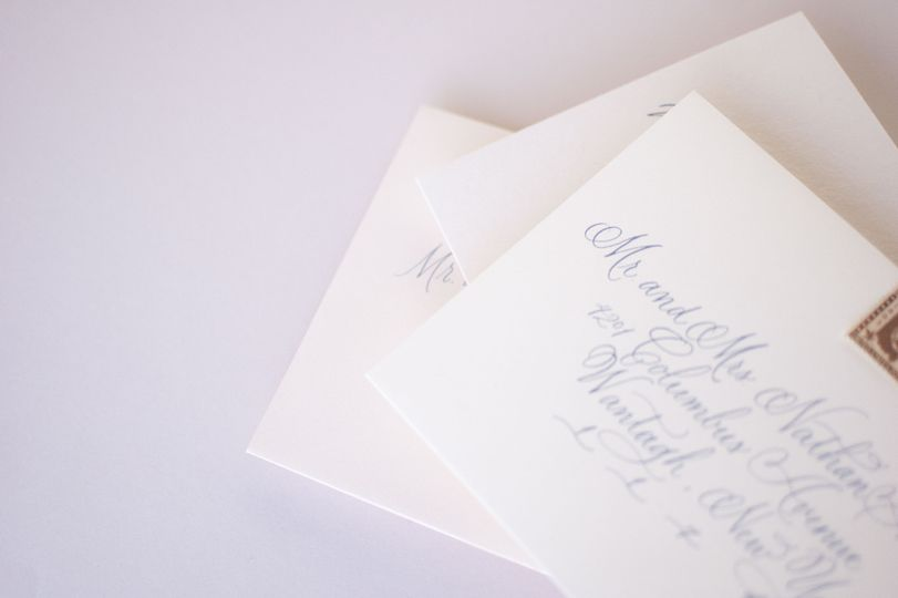 Copperplate envelopes