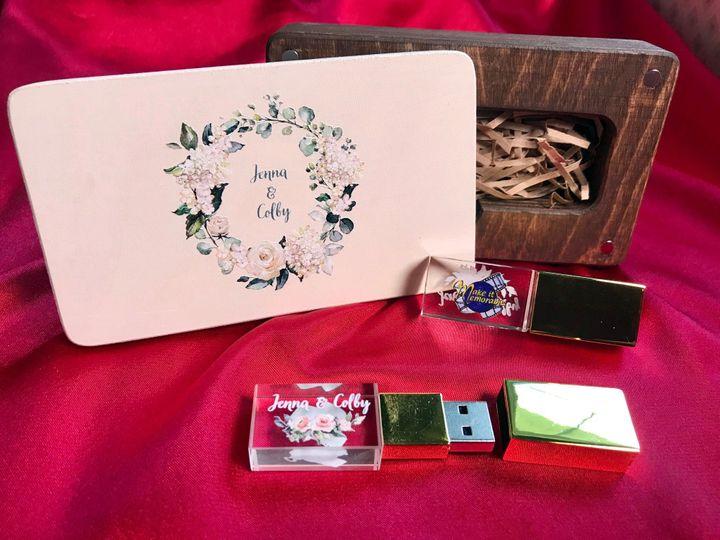 Keepsake box and USB