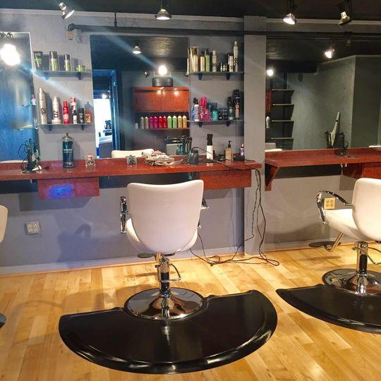 The salon interior