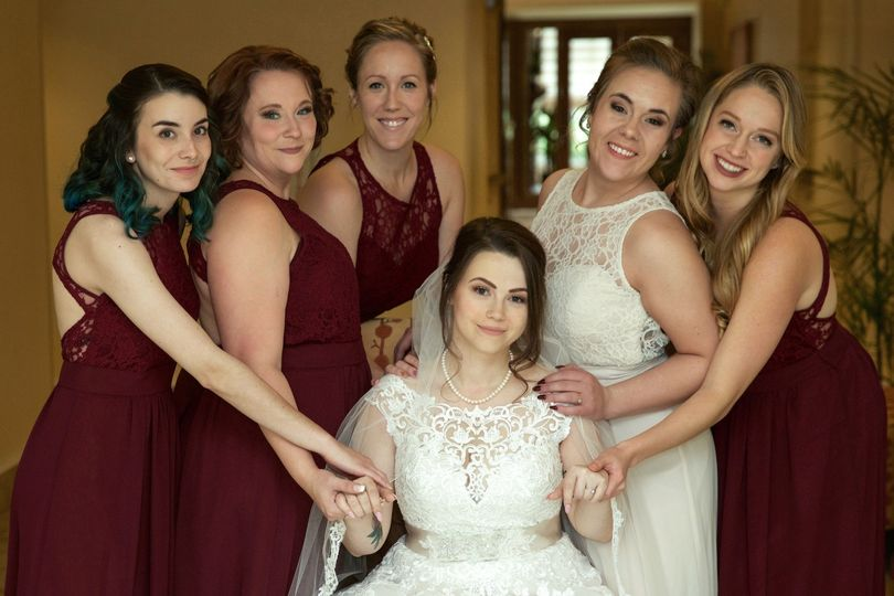 Bride with her Brides Maids