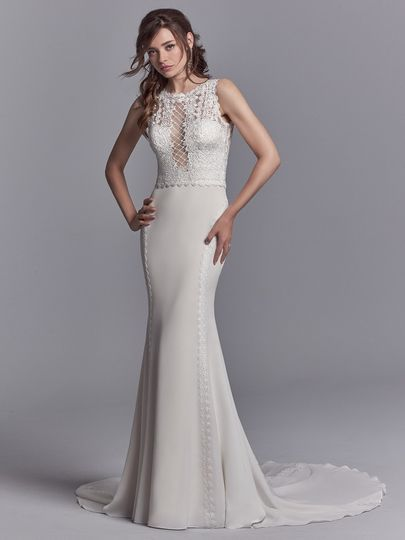 Laced wedding gown