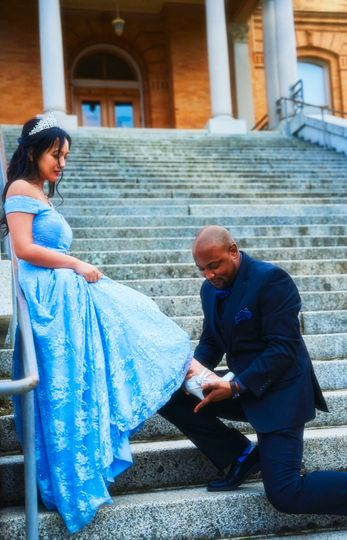 Cinderella themed engagement 2