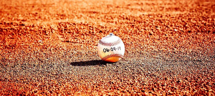 Save the date baseball