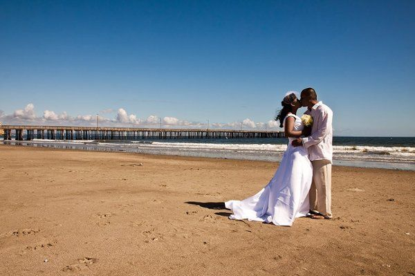 Ceremony on beach in Avila Beach, CA