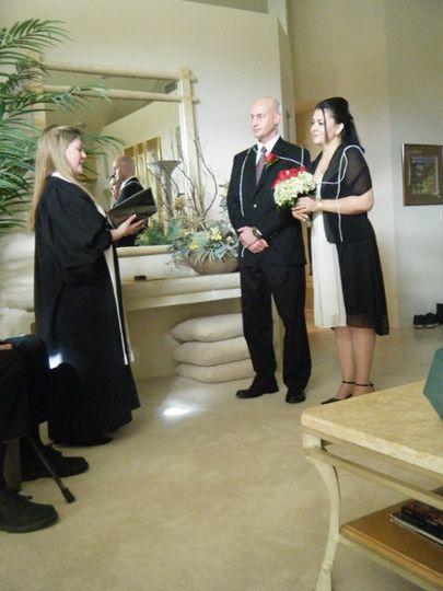 Wedding ceremony in private home, Lasso ritual