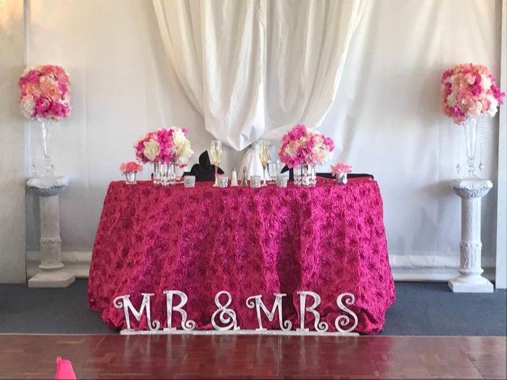 Brunch wedding sweetheart table