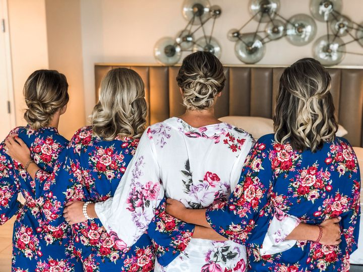 Bridal party styles back view