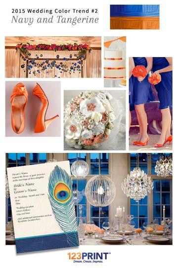 123print navy and tangerine wedding