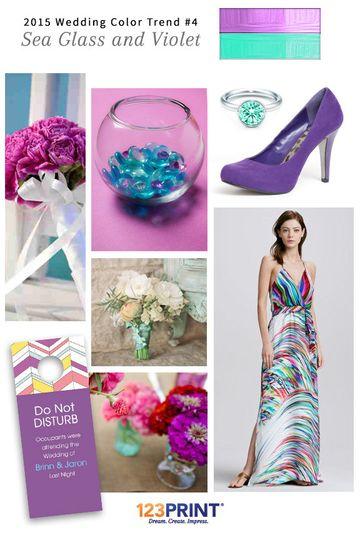 123print sea glass and violet wedding