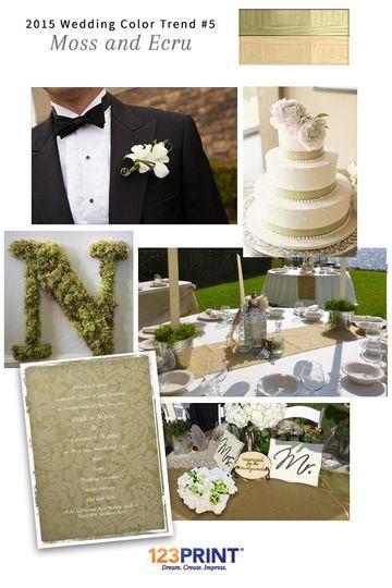 123print moss and ecru wedding